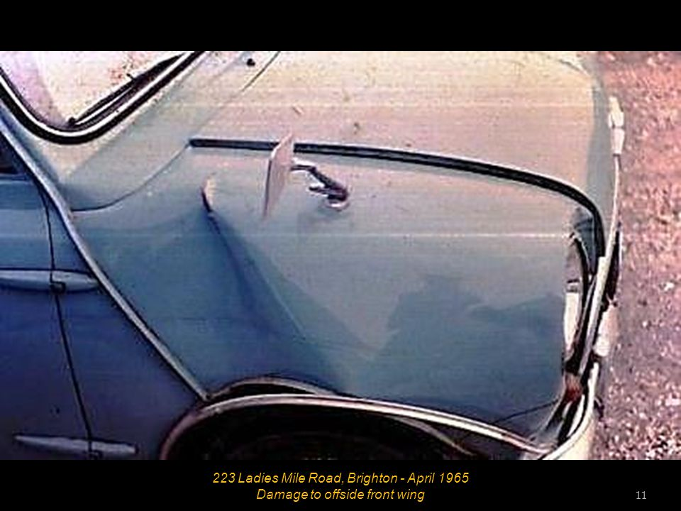 223 Ladies Mile Road, Brighton - April 1965 Damage to offside front wing 10