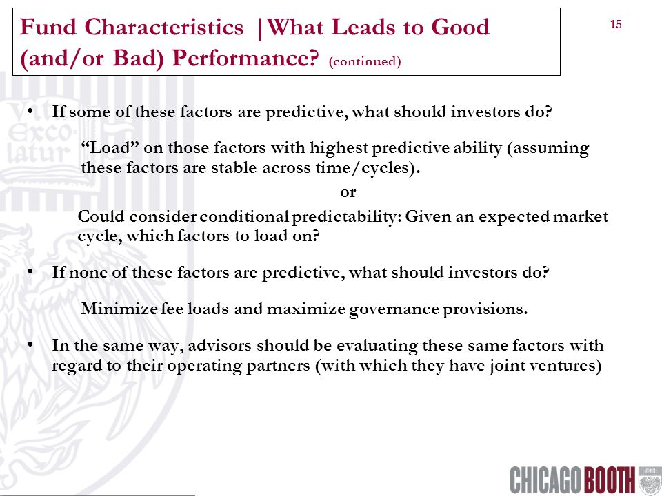 15 Fund Characteristics |What Leads to Good (and/or Bad) Performance.