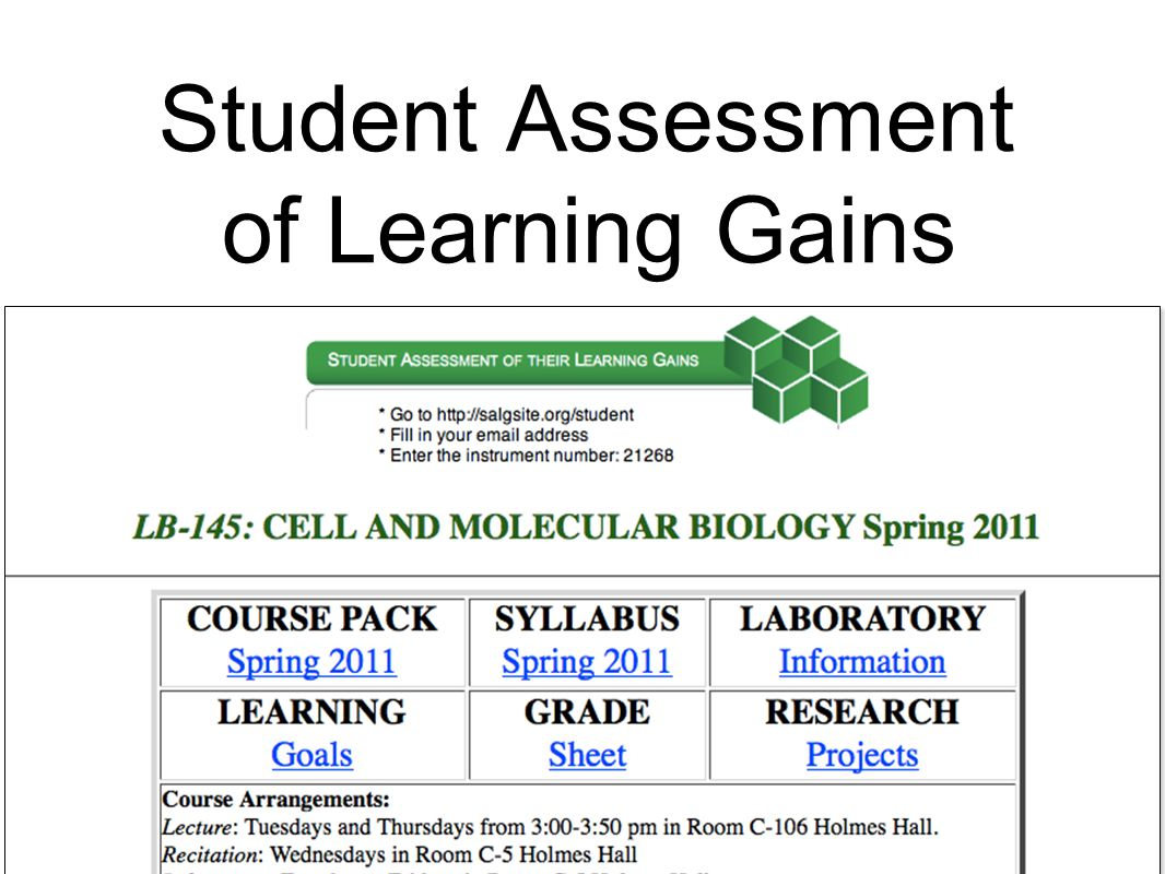 Student Assessment of Learning Gains (SALG) website