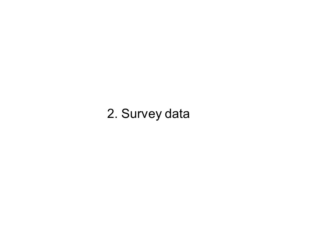 2. Survey data