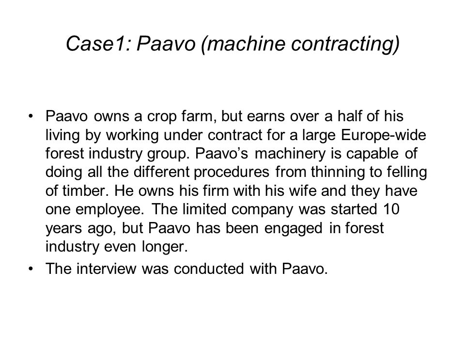 The role of the vertical position and variety in self-presentations The lack of personal control in market arena in the case of Paavo is repeatedly attributed to the vertical position, in which there is only one buyer, and the relation between the farmer and the buyer is asymmetrical and hierarchical, the latter being a large company and the former running a small business.