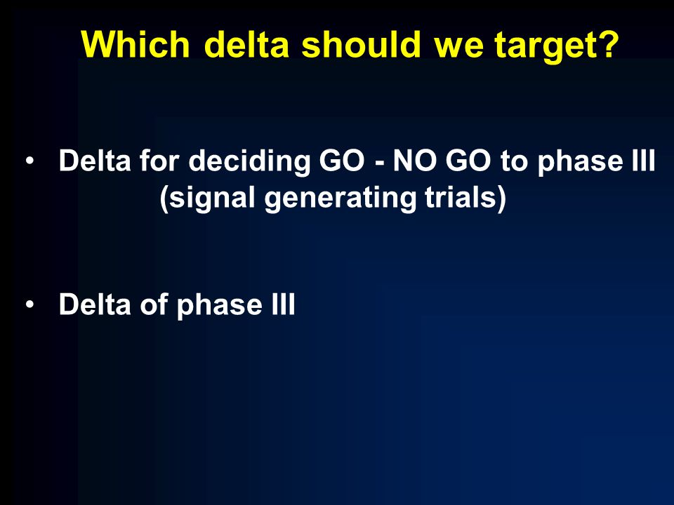 Which delta should we target.
