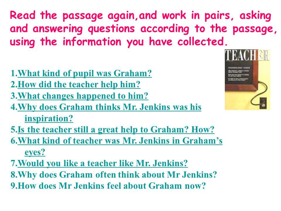 Assignment Interview your favorite teacher.