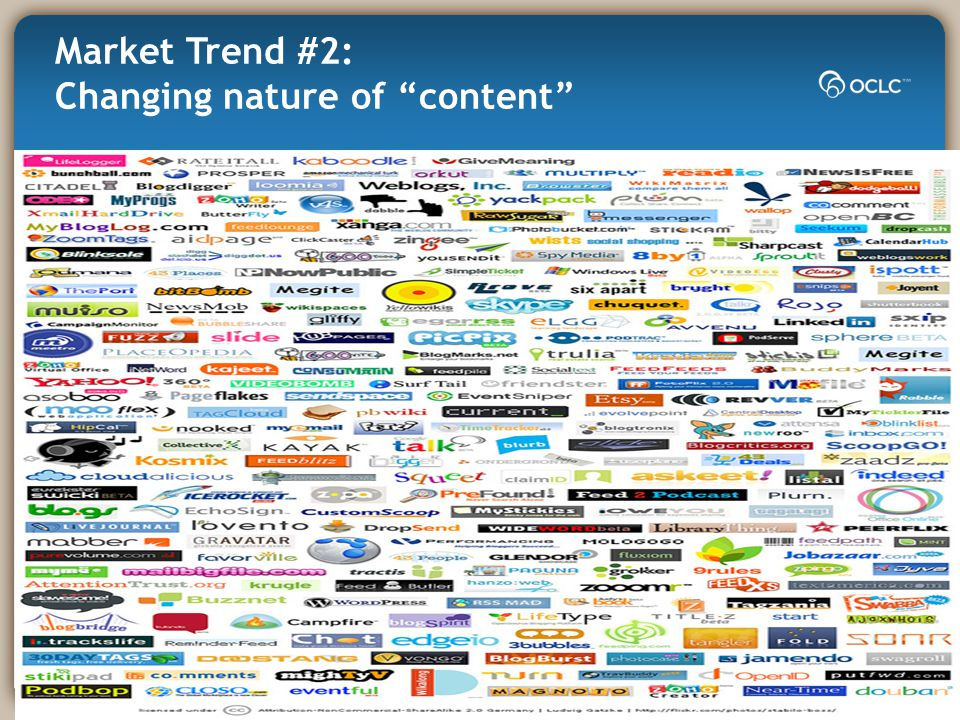 Market Trend #2: Changing nature of content