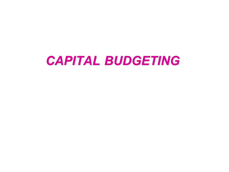 Capital budgeting is finance terminology for the process of deciding whether or not to undertake an investment project.