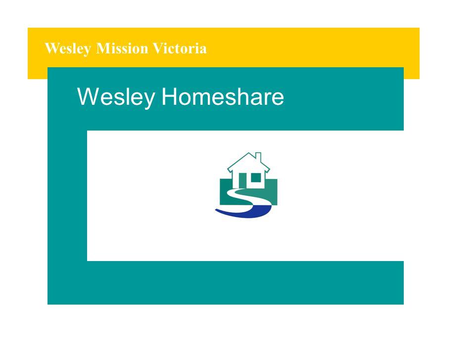 Wesley Mission Victoria Wesley Homeshare