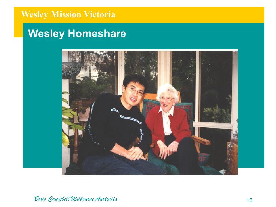 Wesley Mission Victoria Wesley Homeshare Beris Campbell Melbourne Australia 15