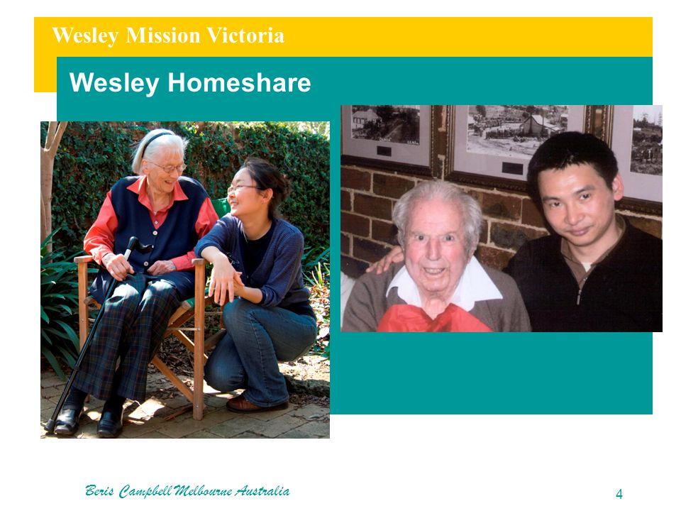 Wesley Mission Victoria Wesley Homeshare Beris Campbell Melbourne Australia 4