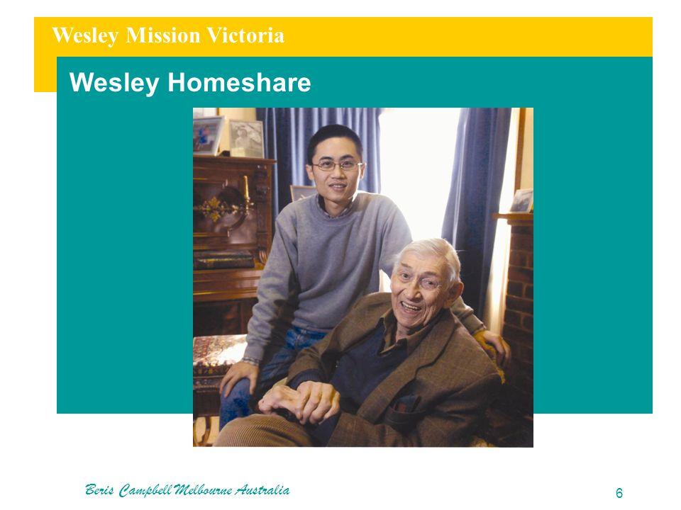 Wesley Mission Victoria Wesley Homeshare Beris Campbell Melbourne Australia 6