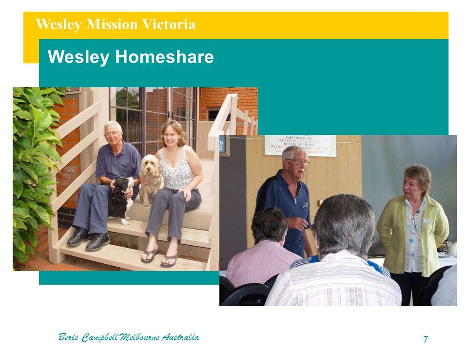 Wesley Mission Victoria Wesley Homeshare Beris Campbell Melbourne Australia 7