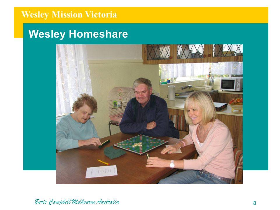Wesley Mission Victoria Wesley Homeshare Beris Campbell Melbourne Australia 8