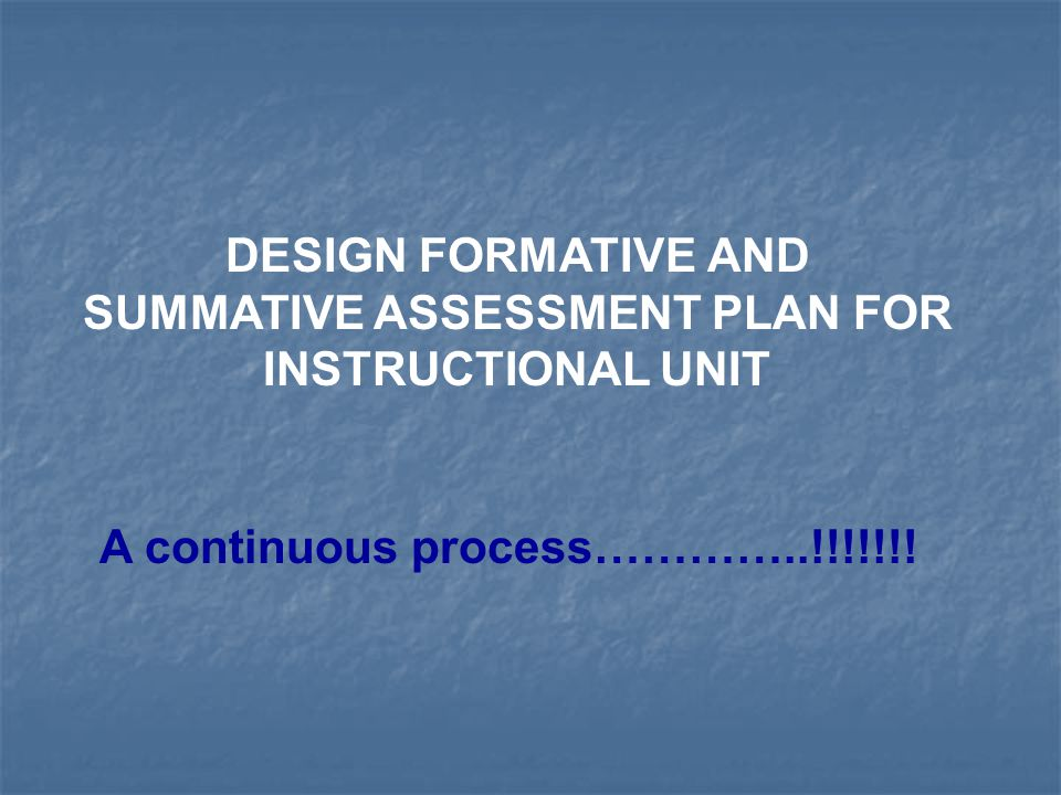 FORMATIVE ASSESSMENTS Measure the progress of the student as he/she moves through the unit.