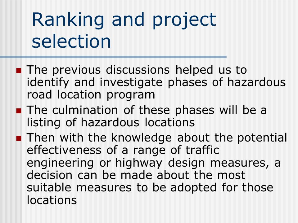 Decision criteria (conclusion) The net present value method is recommended as the best of five techniques for economic analysis of the alternatives It is subject to least ambiguity It produces information which is readily understood It is less likely to be affected by assumptions Especially the definition of benefit and cost It is the easiest to calculate As a value in itself As a means of comparing alternatives