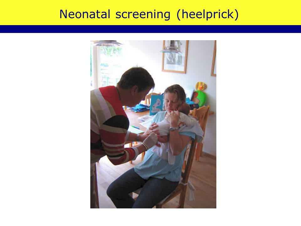 Neonatal screening (heelprick)