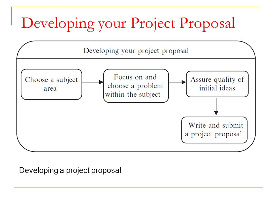 Developing your Project Proposal Developing a project proposal