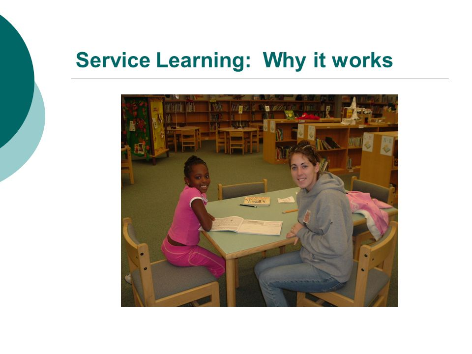 Service Learning: Why it works