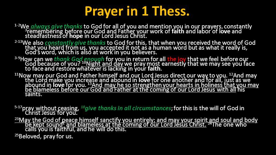 Prayer in 1 Thess.