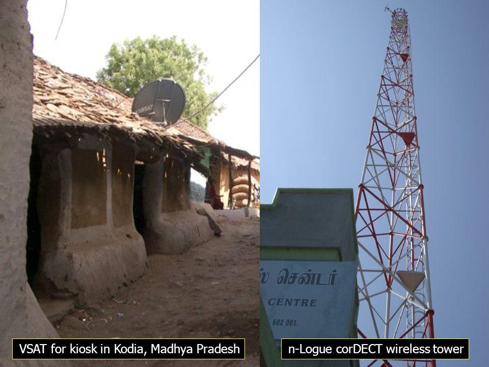 VSAT for kiosk in Kodia, Madhya Pradeshn-Logue corDECT wireless tower
