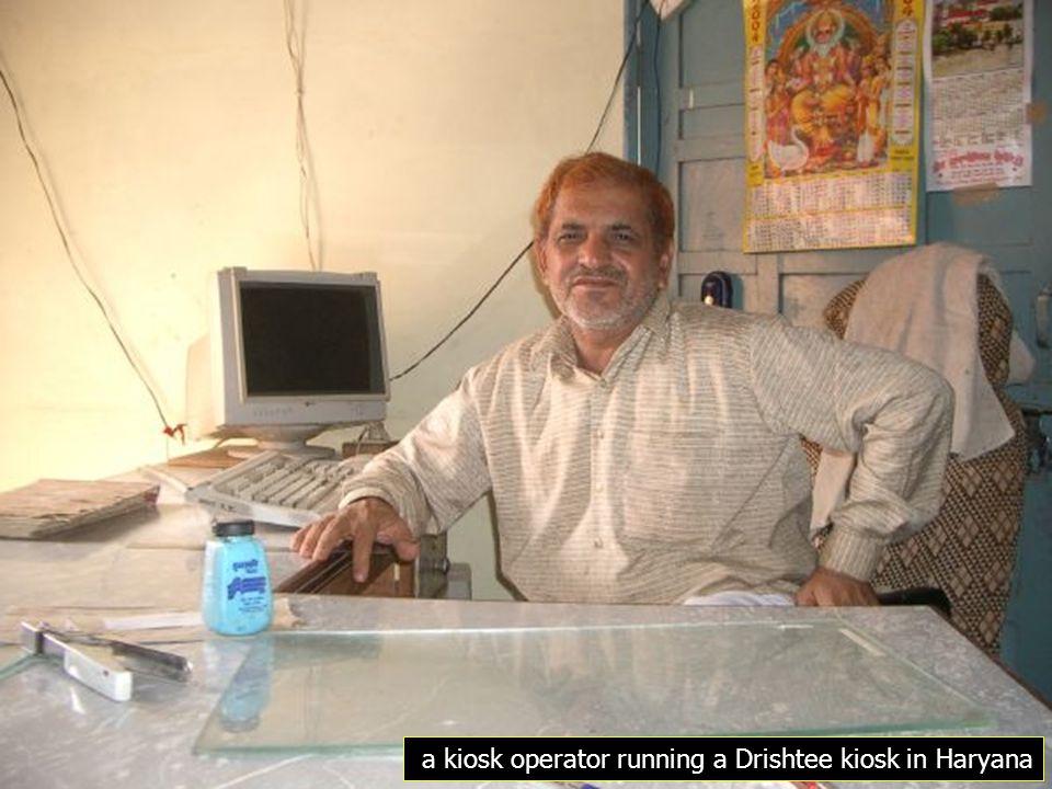 a kiosk operator running a Drishtee kiosk in Haryana