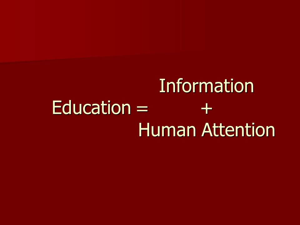 Education  Information+ Human Attention
