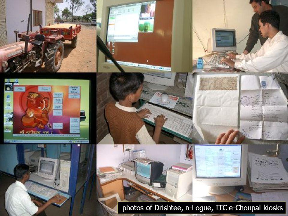 photos of Drishtee, n-Logue, ITC e-Choupal kiosks
