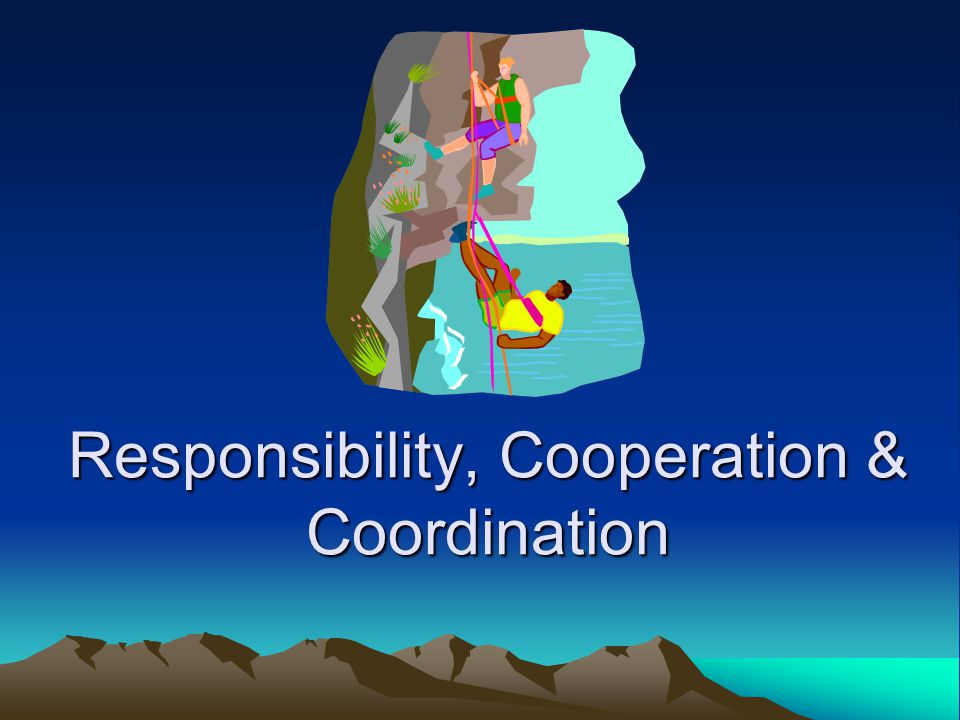 Responsibility, Cooperation & Coordination