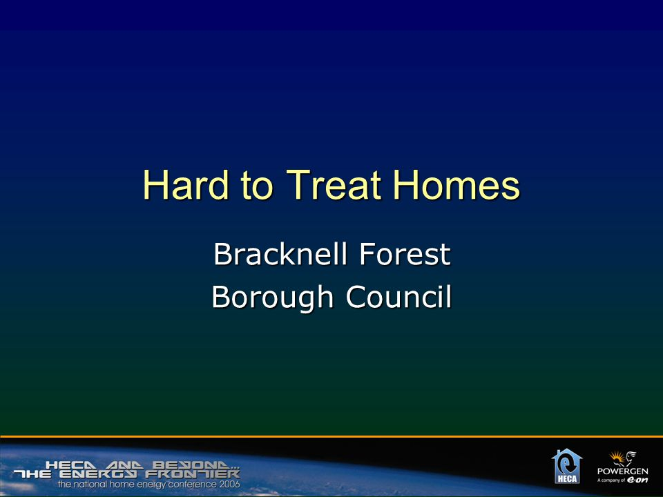 Hard to Treat Homes Bracknell Forest Borough Council