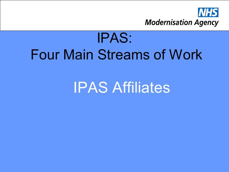 IPAS: Four Main Streams of Work IPAS Affiliates