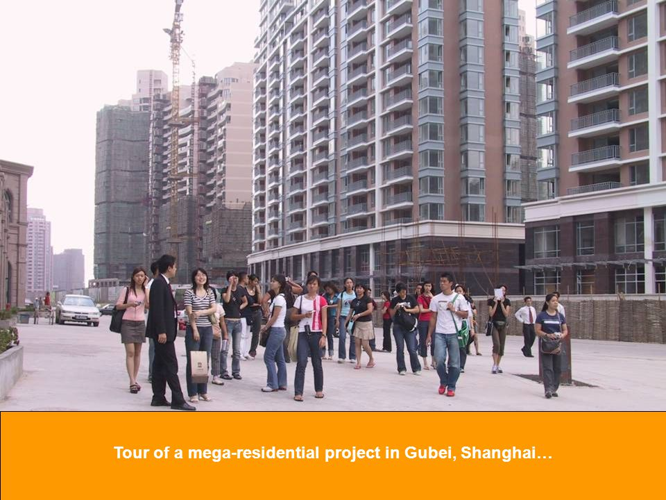 Tour of a mega-residential project in Gubei, Shanghai…