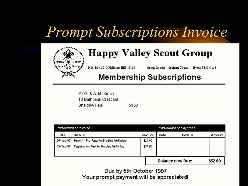 Subscriptions Management
