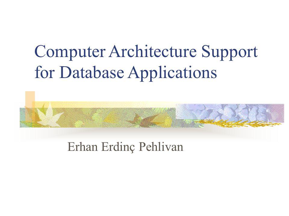 Erhan Erdinç Pehlivan Computer Architecture Support for Database Applications