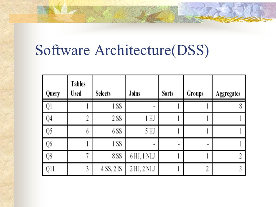 Software Architecture(DSS)