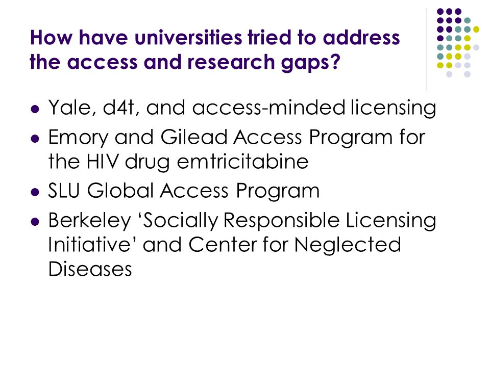 How have universities tried to address the access and research gaps.