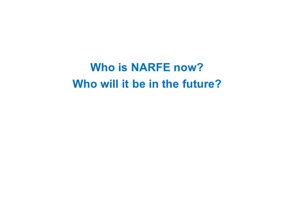 Who is NARFE now Who will it be in the future