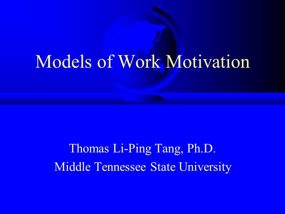Herzberg's Motivator-Hygiene Theory Herzberg, F., Mausner, B., & Snyderman, B.