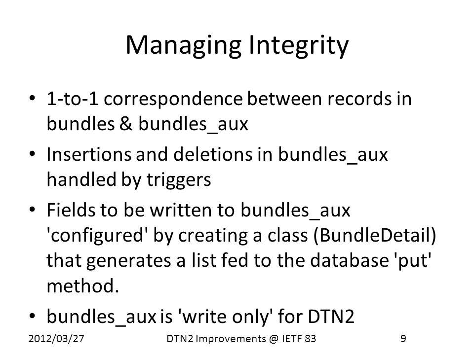 2012/03/27 DTN2 Improvements @ IETF 83 10 What s in bundles_aux.