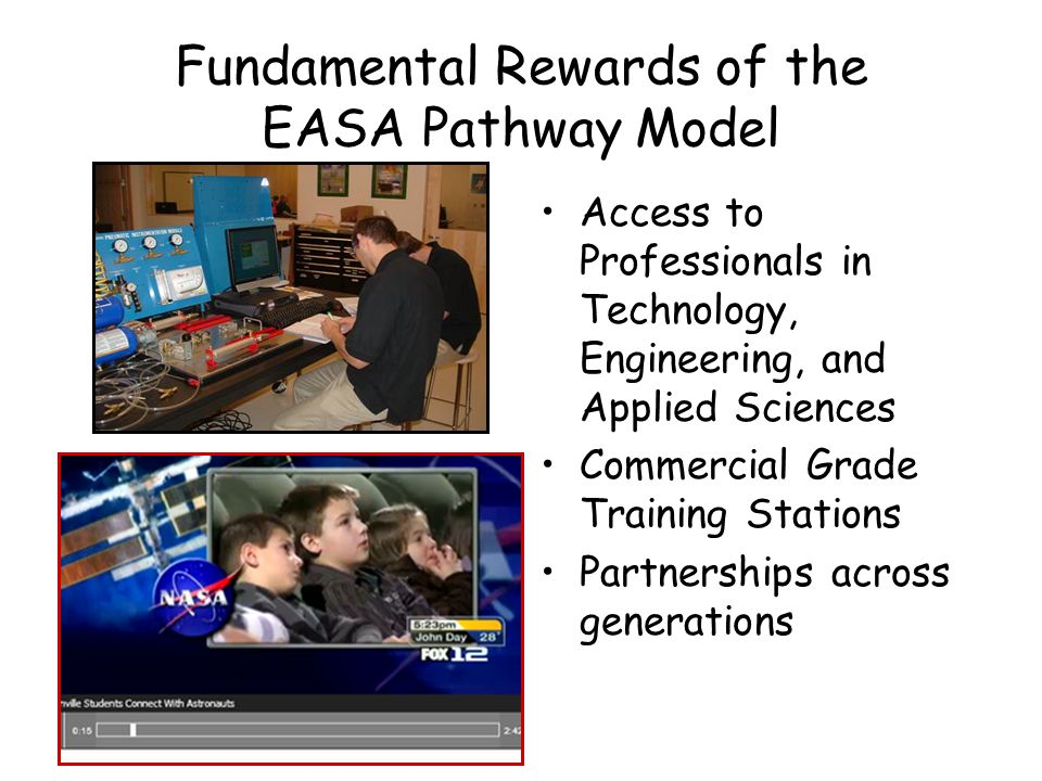 Fundamental Rewards of the EASA Pathway Model Integrated High School and Community College Experiences Active support from museum staff and docents