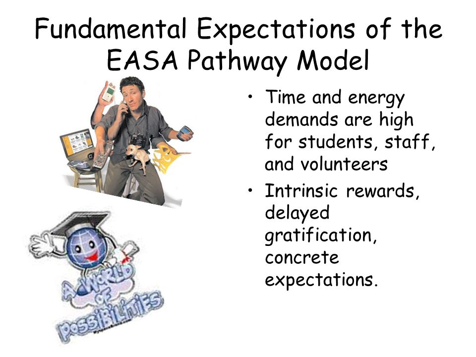 Fundamental Expectations of the EASA Pathway Model Cultural Interface between Public Education and Private Enterprise What is my grade versus What did I learn?
