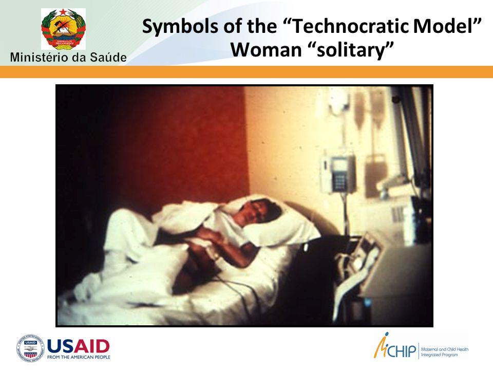 Symbols of the Technocratic Model Woman solitary