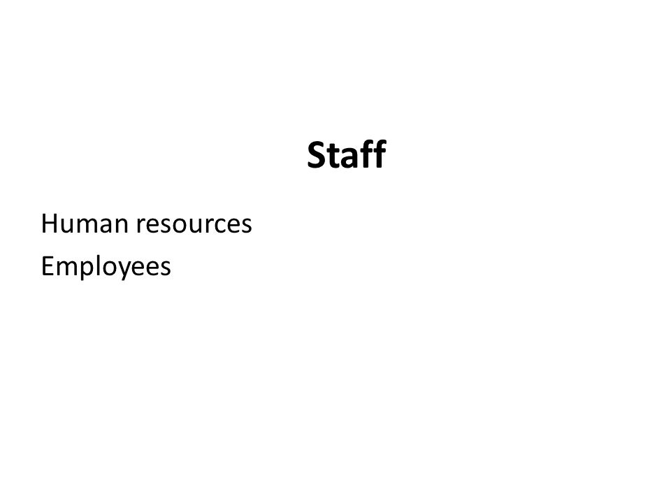 Staff Human resources Employees