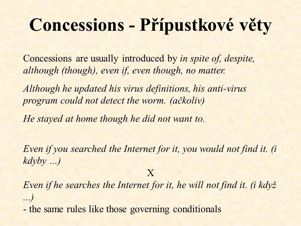 Concessions - No matter...