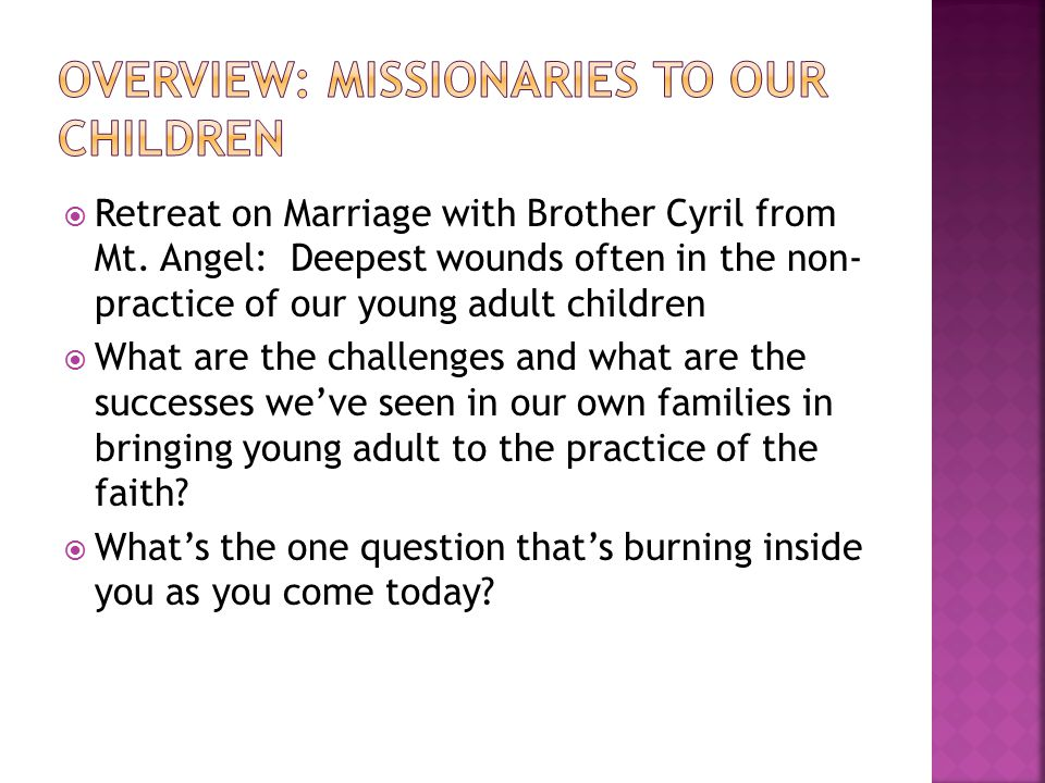  Retreat on Marriage with Brother Cyril from Mt.