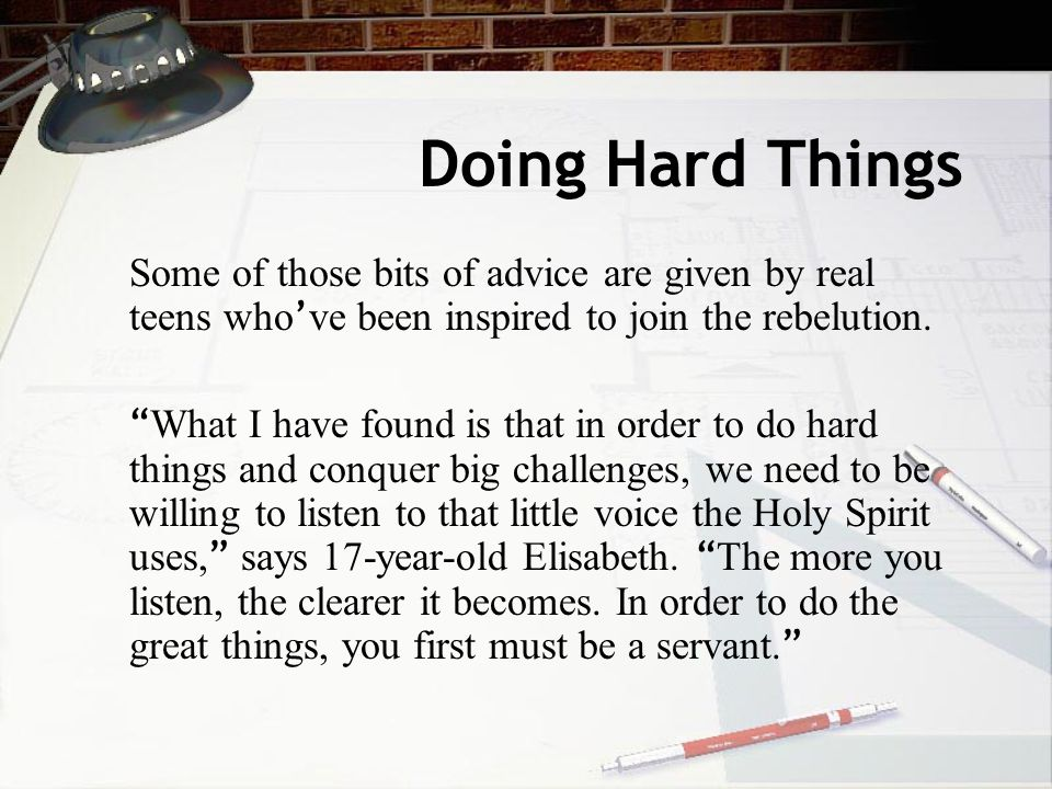 Doing Hard Things: Alex and Brett want teens to push themselves to do God ' s work here on earth.