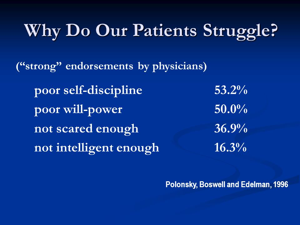 Why Do Our Patients Struggle.