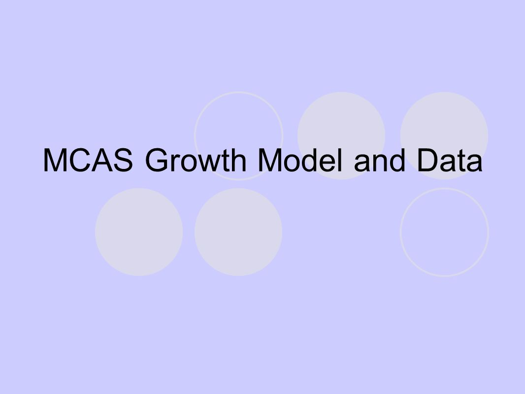 MCAS Growth Model and Data