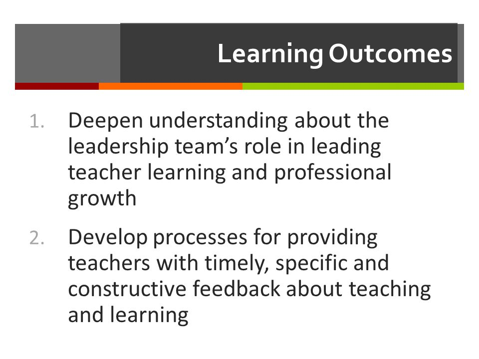 Dimension Four: Leading teacher learning Robinson, 2011