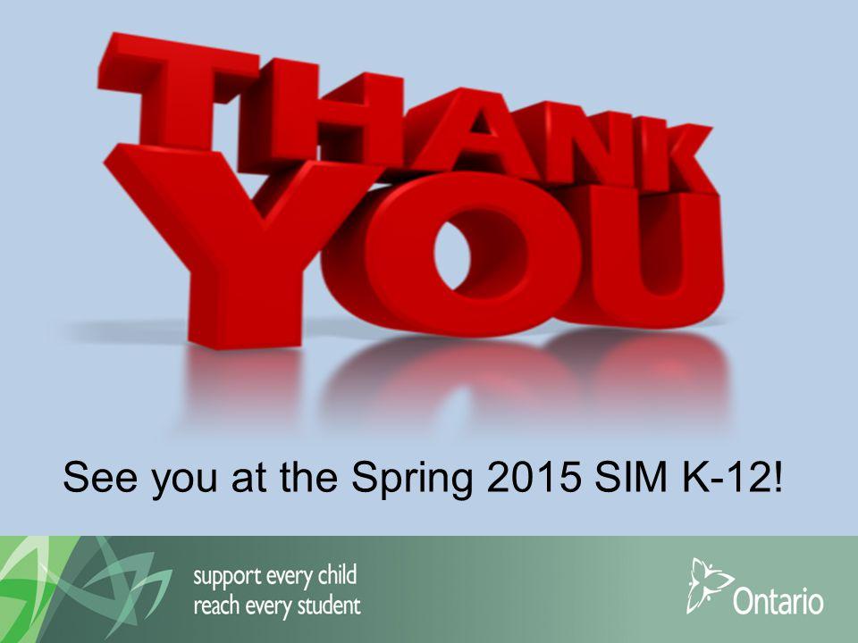 See you at the Spring 2015 SIM K-12!