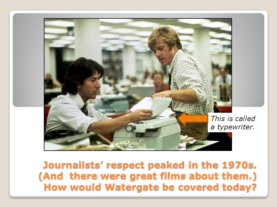 Journalists' respect peaked in the 1970s.