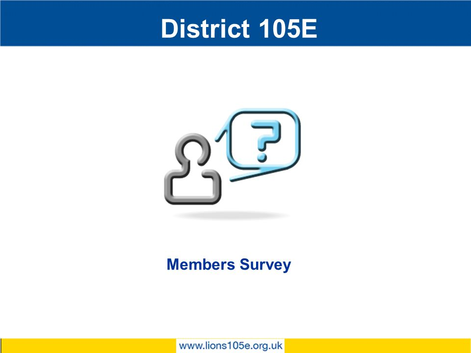 District 105E Members Survey