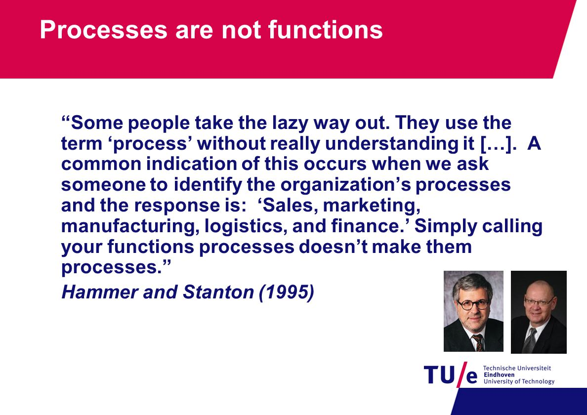Processes are not functions Some people take the lazy way out.